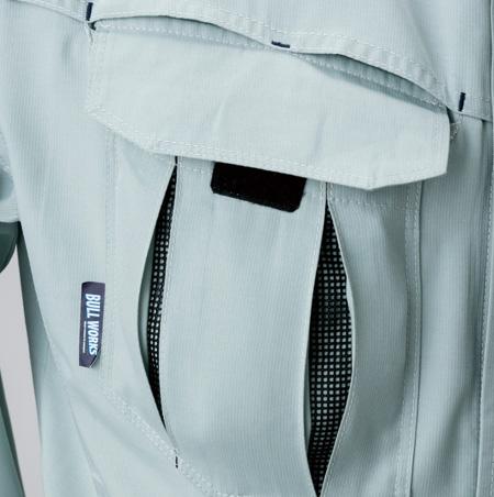 胸プリーツポケット