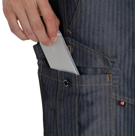 フラップ付きポケットペンさし