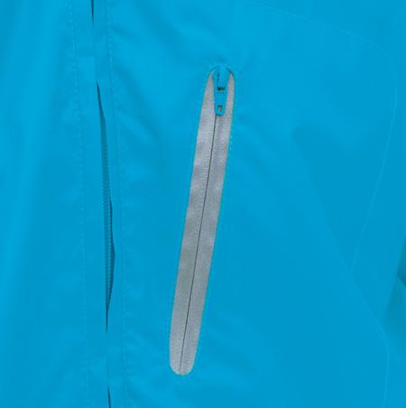 3.反射付き胸ファスナーポケット