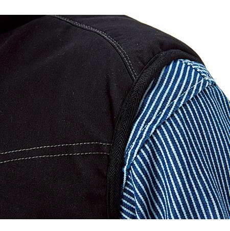 袖ぐりストレッチヘリンボーン素材