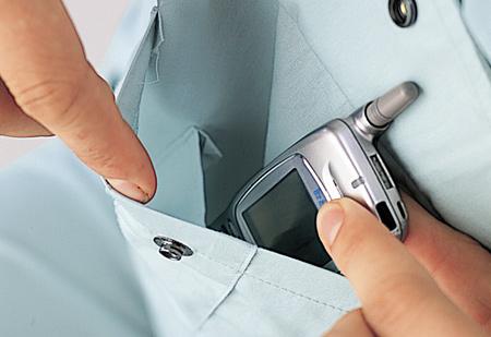 携帯電話ポケット(ブルゾン・シャツ共通)