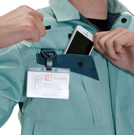 Dカン付、右胸ポケット(シャツ・ブルゾン共通)