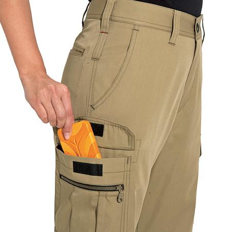 右足ファスナー付きポケット