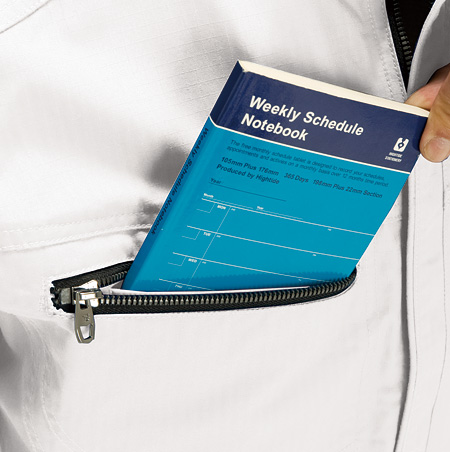 大容量、右胸ファスナー付ポケット