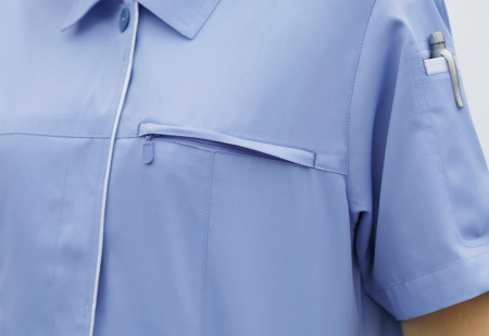 左胸ファスナー付きポケット(612・614共通)