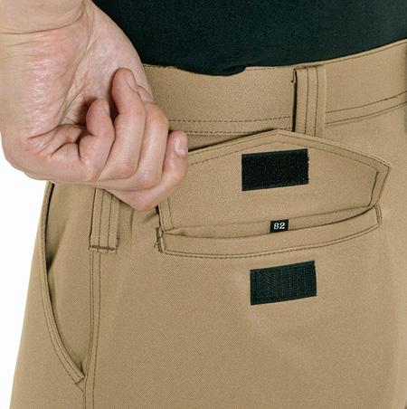 フラップ付ポケット