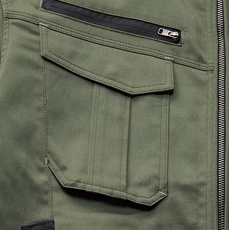 2.ファスナー付ポケット