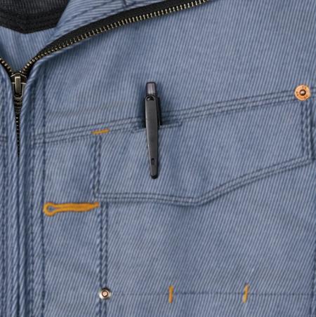 ペンさし付きポケット