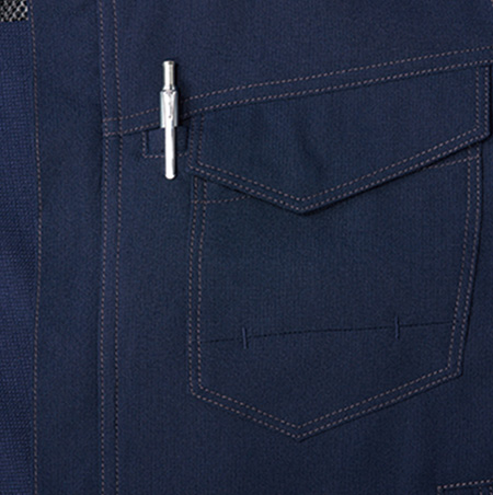 胸ペンさし付ポケット