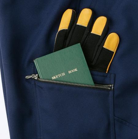 ファスナー付きポケット