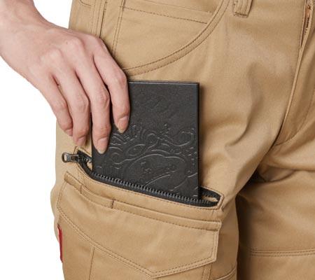 長財布・野帳(レベルブック)収納ポケット(右:深さ23cm)