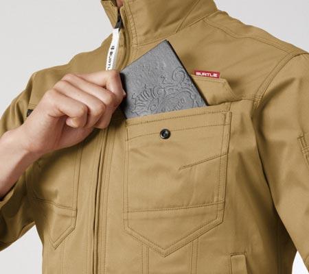 野帳(レベルブック)対応ポケット(左・深さ20cm)