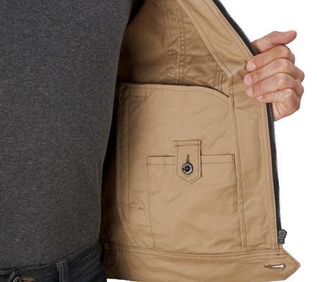 内ポケット(左:ボタン止め)