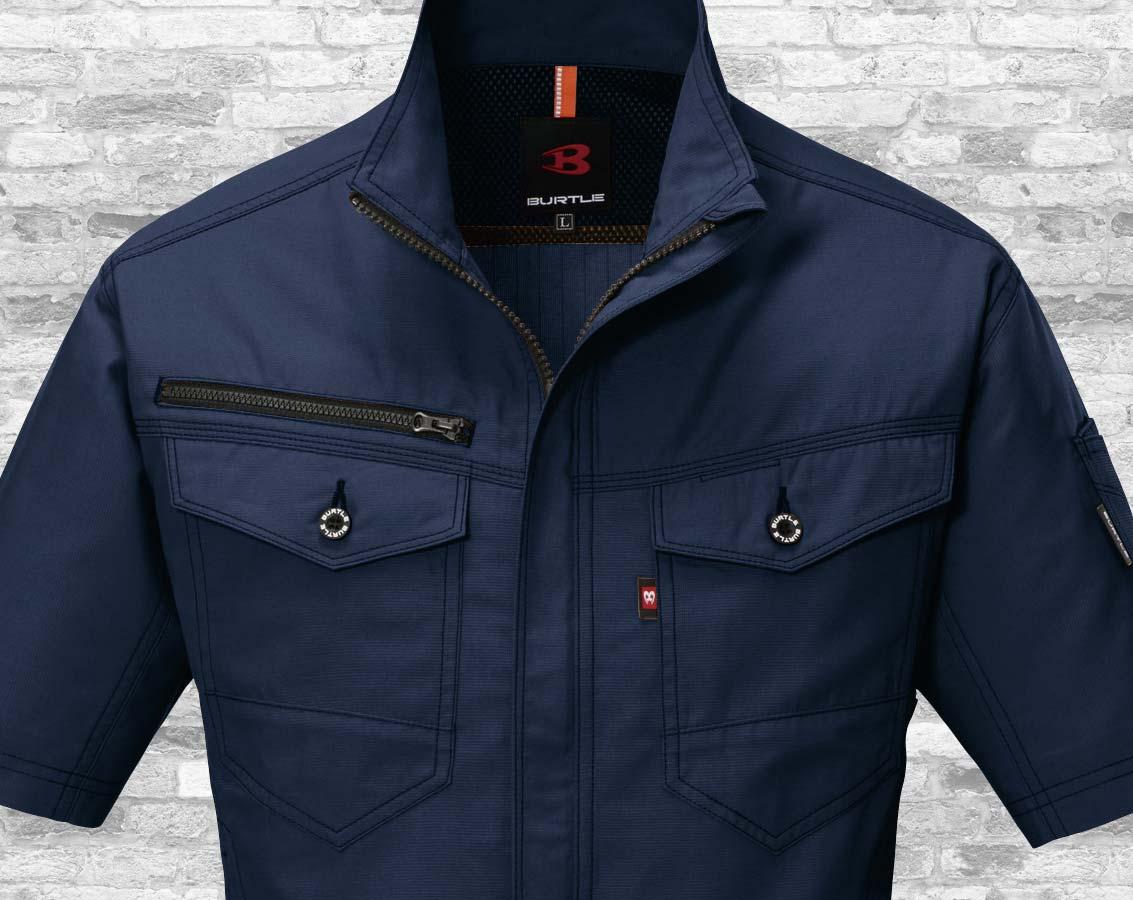 バートル9086 BURTLEストレッチエアリークロス半袖ジャケット