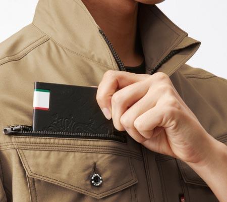 右:レベルブック収納ポケット