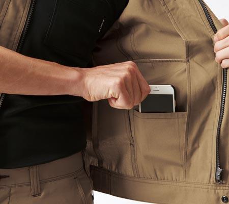 左:内ポケット