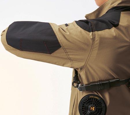 袖アームタッグ/肩・袖コーデュラ補強布使用