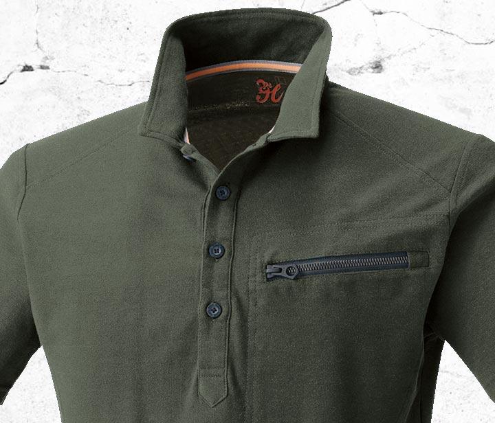 HOOH 274 鳳皇鹿の子半袖ポロシャツ
