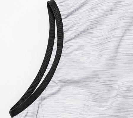高品質ゴムで袖からの風の流出を防ぐ