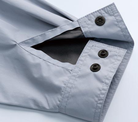 風抜け調整袖口Wボタン
