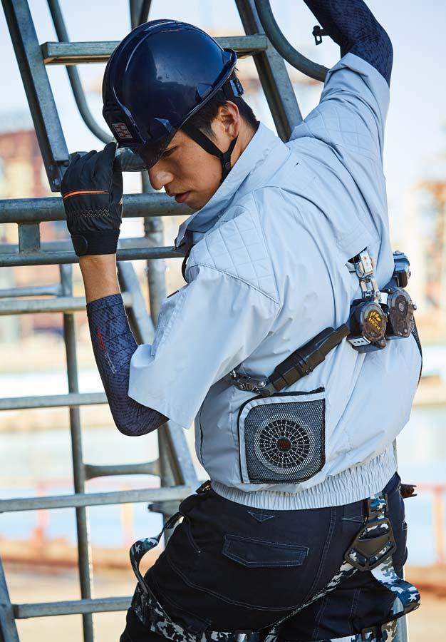 HOOH V9377 鳳皇 フルハーネス対応 空調服 半袖ジャケット