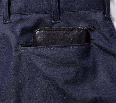 長財布が入る後ろポケット