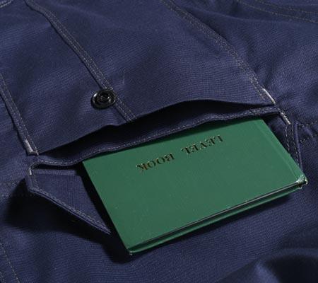 野帳が入る二重ポケット