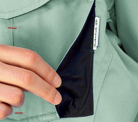胸マチ付きポケット