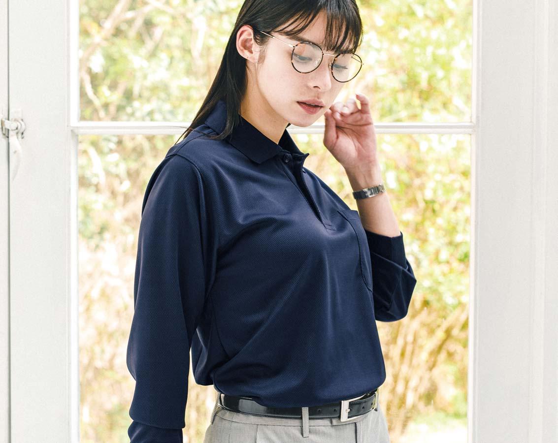 SOWA 50390 桑和長袖ポロシャツ