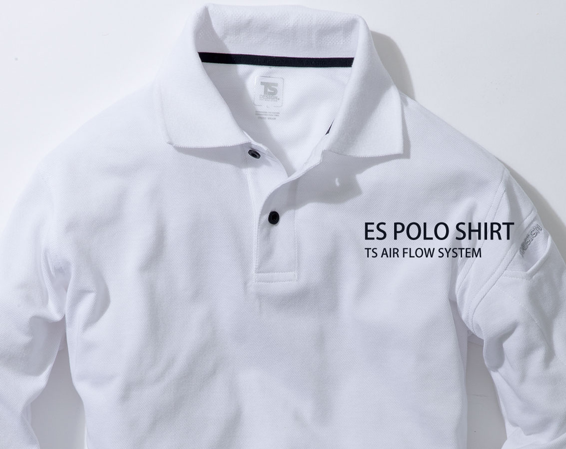 4075 ESロングスリーブポロシャツ